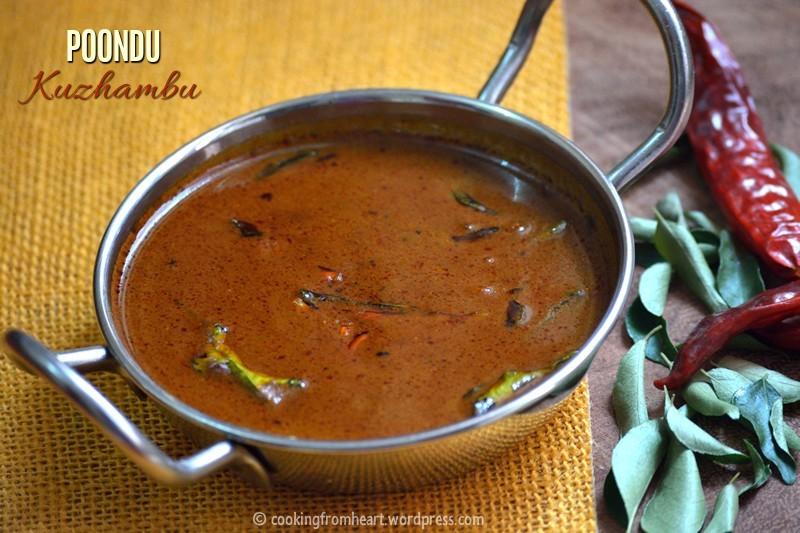 Poondu Kuzhambu Poondu Puli Kuzhambu Recipe Cooking
